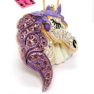 Betsey Johnson Majestic Purple Unicorn Pendant Hot